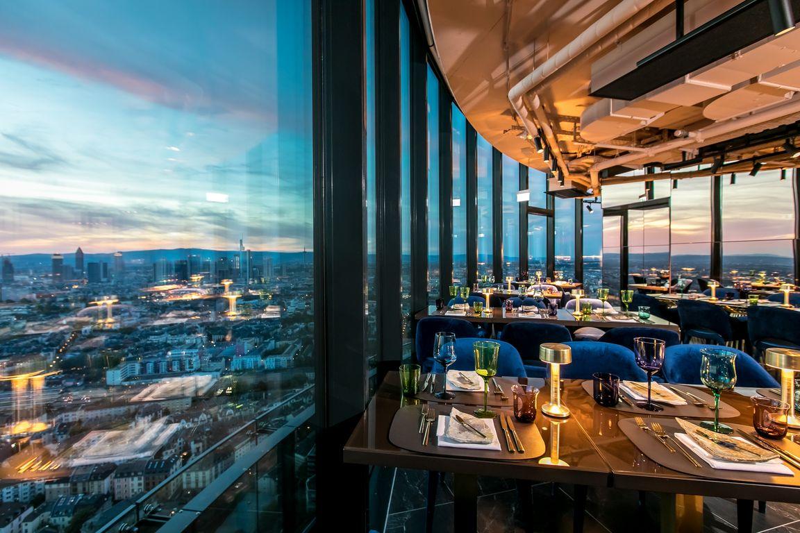 Franziska Im Henninger Turm Rooftop Dining Chefs Table Counter